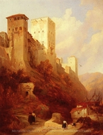 Alhambra painting reproduction, David Roberts