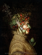 Allegorical Portrait, Summer painting reproduction, Giuseppe Arcimboldo