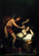 Allegory of Love, Cupid and Psyche painting reproduction, Francisco De Goya
