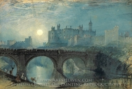 Alnwick Castle painting reproduction, J.M.W. Turner
