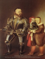 Alof of Vignancourt (after Caravaggio) painting reproduction, Fernando Botero