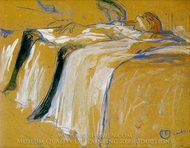 Alone painting reproduction, Henri De Toulouse-Lautrec