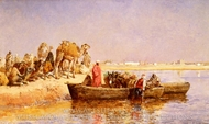 Along the Nile painting reproduction, Edwin Lord Weeks