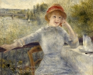 Alphonsine Fournaise painting reproduction, Pierre-Auguste Renoir