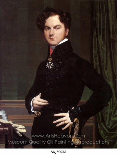 Jean Auguste Dominique Ingres, Amedee-David, Comte de Pastoret oil painting reproduction