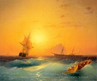 American Shipping off the Rock of Gibraltar painting reproduction, Ivan Aivazovskiy