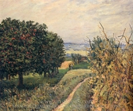 Among the Vines, Louveciennes painting reproduction, Alfred Sisley