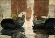 An Afterglow painting reproduction, Winslow Homer
