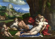 An Allegory of Love painting reproduction, Benvenuto Tisi Garofalo