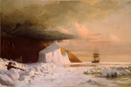 An Arctic Summer: Boring Through the Pack in Melville Bay painting reproduction, William Bradford