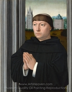 An Augustinian Friar Praying painting reproduction, Gerard David