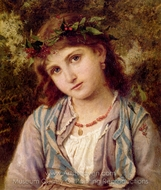 An Autumn Princess painting reproduction, Sophie Gengembre Anderson