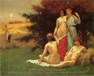 An Eclogue painting reproduction, Kenyon Cox