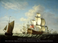 An English Squadron Getting Under Way painting reproduction, Francis Swaine