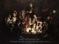 An Experiment on a Bird in the Air Pump painting reproduction, Joseph Wright of Derby