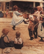 An Impromptu Ball painting reproduction, Eva Roos