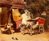 An Indian Gharry painting reproduction, Edwin Lord Weeks