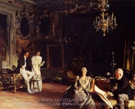 An Interior in Venice painting reproduction, John Singer Sargent