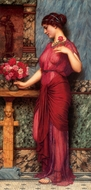 An Offering to Venus painting reproduction, John William Godward