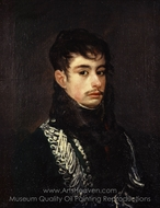 An Officer painting reproduction, Francisco De Goya