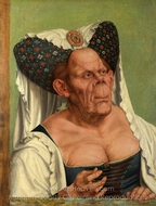 An Old Woman (The Ugly Duchess) painting reproduction, Quentin Massys