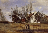 An Orchard at Harvest Time painting reproduction, Jean-Baptiste Camille Corot