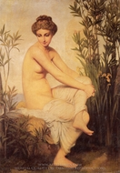 Ancient Bather (Baigneuse Antique) painting reproduction, Eugene-Emmanuel Amaury-Duval