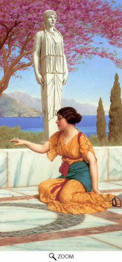 John William Godward, Ancient Pastimes oil painting reproduction