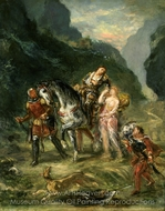 Angelica and the Wounded Medoro painting reproduction, Eugene Delacroix