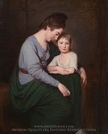 Ann Wilson with her Daughter, Sybil painting reproduction, George Romney