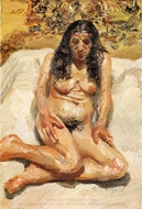 Annabel painting reproduction, Lucian Freud