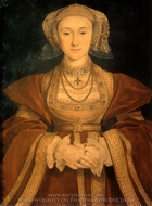 Anne of Cleves painting reproduction, Hans Holbein, The Younger