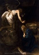 Annunciation painting reproduction, Caravaggio