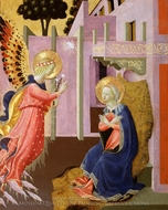 Annunciation painting reproduction, Zanobi Strozzi
