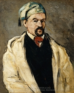 Antoine Dominique Sauveur Aubert, the Artist's Uncle painting reproduction, Paul Cézanne