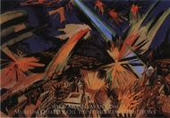 Apocalyptic City painting reproduction, Ludwig Meidner