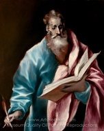 Apostle Saint Matthew painting reproduction, El Greco