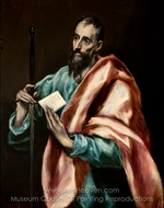 Apostle Saint Paul painting reproduction, El Greco