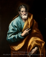Apostle Saint Peter painting reproduction, El Greco