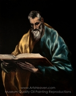 Apostle Saint Simon painting reproduction, El Greco