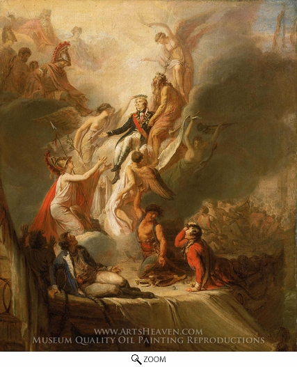 Scott Pierre Nicolas Legrand, Apotheosis of Nelson oil painting reproduction