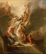 Apotheosis of Nelson painting reproduction, Scott Pierre Nicolas Legrand