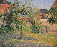 Apple Tree in the Meadow, Eragny painting reproduction, Camille Pissarro