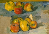 Apples painting reproduction, Paul Cézanne
