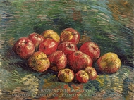 Apples painting reproduction, Vincent Van Gogh