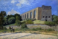Aqueduct at Marly painting reproduction, Alfred Sisley