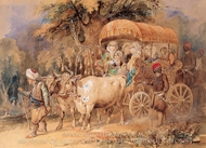 Arabian Ox Cart painting reproduction, Amedeo Preziosi