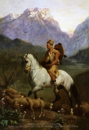 Arabian Shepherd (Shepherd High Plateau of Kabylia) painting reproduction, Eugene Fromentin