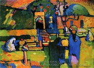 Arabs I (Cemetery) painting reproduction, Wassily Kandinsky