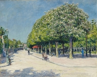 Argenteuil, Fete Foraine painting reproduction, Gustave Caillebotte